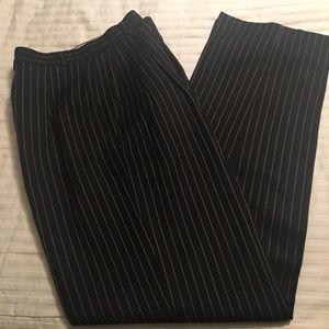 Rafaella black with gold stripes dress pants